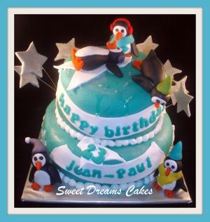 taart winter met pinguins