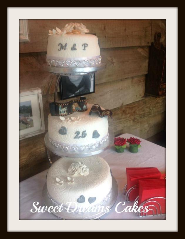 bruidstaart  25 jaar jubileum