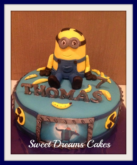 minnion taart/dispicable me taart